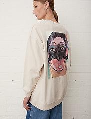 Just Female - Sjulle crewneck - sweatshirts & hoodies - pumice stone - 3