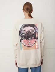 Just Female - Sjulle crewneck - sweatshirts & hoodies - pumice stone - 4