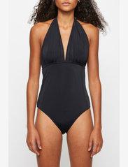 Just Female - Pam tie swimsuit - swimsuits - black - 0