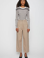 Just Female - Cayenne trousers - wide leg trousers - cobblestone - 0