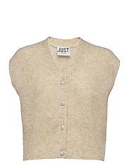 Girona knit vest - PUMICE STONE