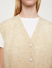 Just Female - Girona knit vest - knitted vests - pumice stone - 3