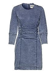 Glacier denim dress - BLUE SNOW