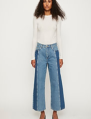 Just Female - Calm jeans mix 0104 - wide leg jeans - middle blue mix - 6