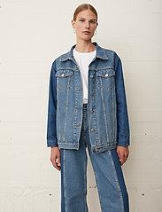 Just Female - Thunder jacket 0104 - denim jackets - middle blue mix - 0