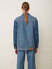 Just Female - Thunder jacket 0104 - denim jackets - middle blue mix - 3