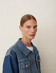 Just Female - Thunder jacket 0104 - denim jackets - middle blue mix - 5
