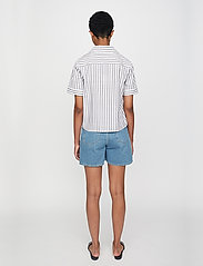 Just Female - Rialto blouse - short-sleeved blouses - pavement stripe - 3