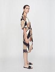 Just Female - Fontana wrap dress - summer dresses - illustrated flowers - 3