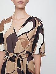 Just Female - Fontana wrap dress - summer dresses - illustrated flowers - 5