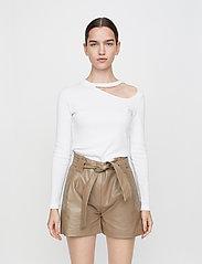 Just Female - Rancho ls tee - t-shirt & tops - white - 0