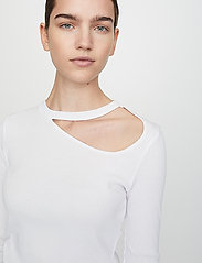 Just Female - Rancho ls tee - t-shirt & tops - white - 4