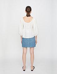 Just Female - Soffia blouse - long sleeved blouses - white - 3