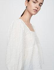 Just Female - Soffia blouse - long sleeved blouses - white - 4