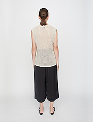 Just Female - Omaha knit top - knitted vests - off white - 3