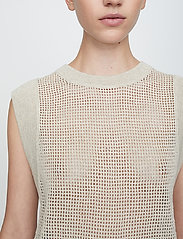 Just Female - Omaha knit top - knitted vests - off white - 5