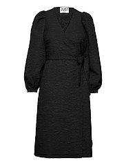 Toda wrap dress - BLACK