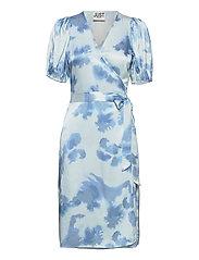 Laguni wrap dress - SILVER LAKE BLUE