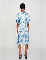 Just Female - Laguni wrap dress - summer dresses - silver lake blue - 3