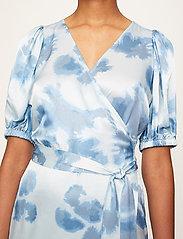 Just Female - Laguni wrap dress - summer dresses - silver lake blue - 5