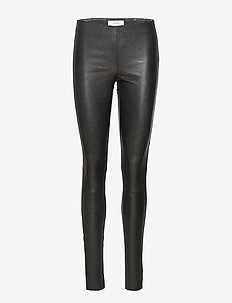 Nex leather leggings - BLACK
