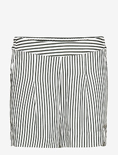 Beach shorts - GREEN WHITE STRIPE