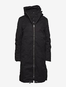 Steal coat - padded coats - black