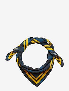 Silk scarf - scarves - blue camu