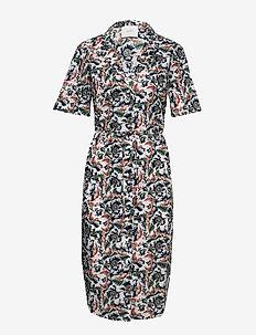 Carol shirt dress - WILD FLOWER WHITE