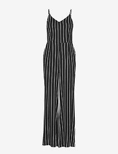 Anna jumpsuit - buksedragter - black white stripe