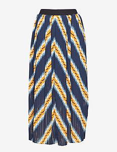 Line skirt - midi skirts - orange stripe