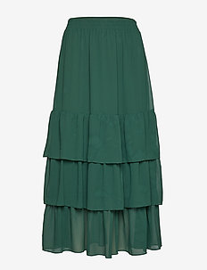 Lera maxi skirt - DARK GREEN
