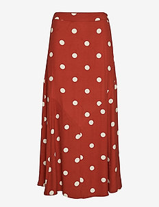 Caia skirt - BARN RED POLKA DOT AOP