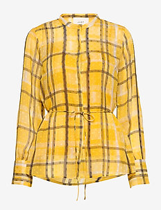 Chinie shirt - PALE YELLOW CHECK