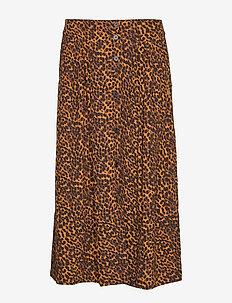 Coca skirt - midi skirts - brown animal