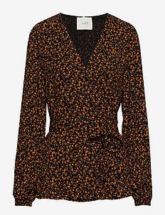 Fiji wrap blouse - LITTLE FLOWER AOP