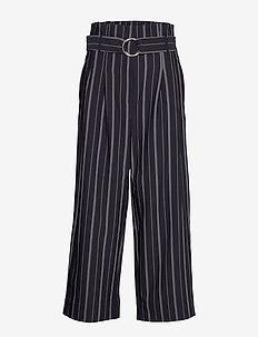 Nicoline trousers - GRAPHITE WHITE STRIPE