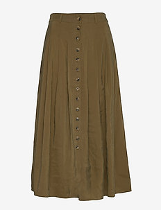 Jena skirt - maxi skirts - dark olive