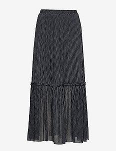 Karin maxi skirt - maxi nederdele - navy mini dot aop
