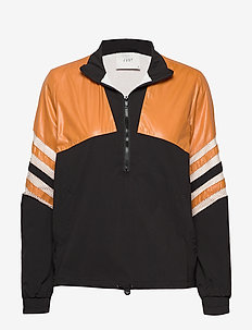 Venus track jacket - kurtki bomber - black yellow stripe