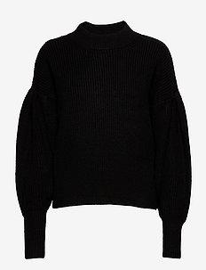 Sophie high neck knit - jumpers - black