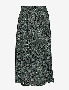 Christle skirt - GREEN SNAKE AOP