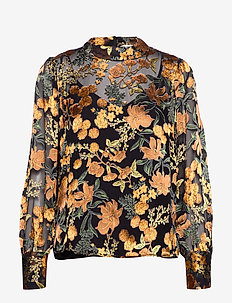 Mirador blouse - GOLDEN FLOWER AOP