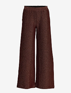 Feye trousers - BLACK WITH COPPER