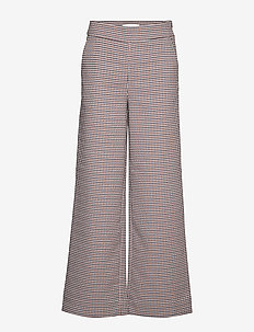Vienna trousers - wide leg trousers - vienna houndstooth
