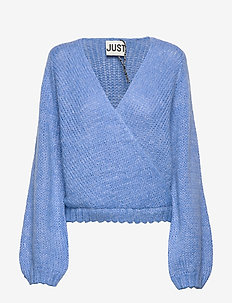 Dolly wrap knit - swetry - blue combo