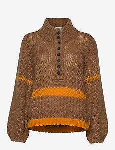 Dolly high neck knit - turtlenecks - nature combo