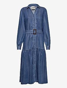 Cas dress - maxi jurken - dark blue denim