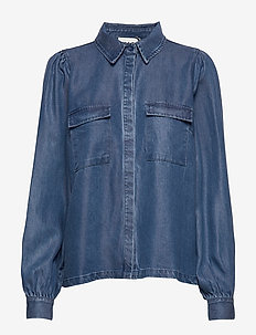 Cas shirt - denimskjorter - dark blue denim