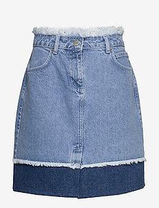 Norma denim skirt - jupes courtes - blue denim